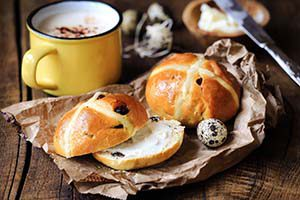 Easter hot cross buns at the Ultimate Public Holiday Guide
